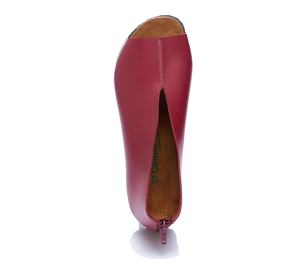 Sandale dama Erika Burgundy 39