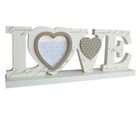 Декорация с рамка за снимка Love