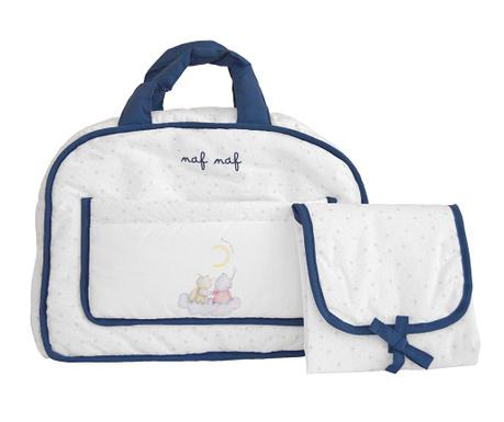 Set geanta si saltea pliabila pentru schimbat scutece Rabbit And Moon