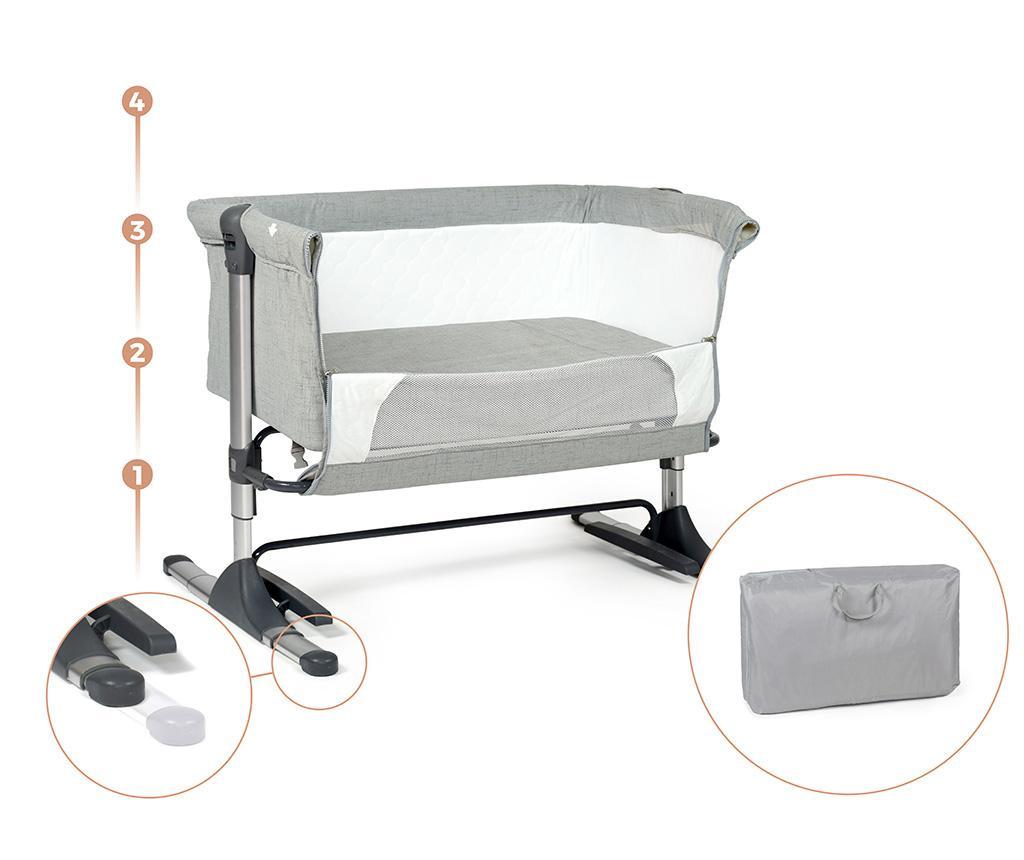 Set - otroška posteljica in dodatki Liso Grey