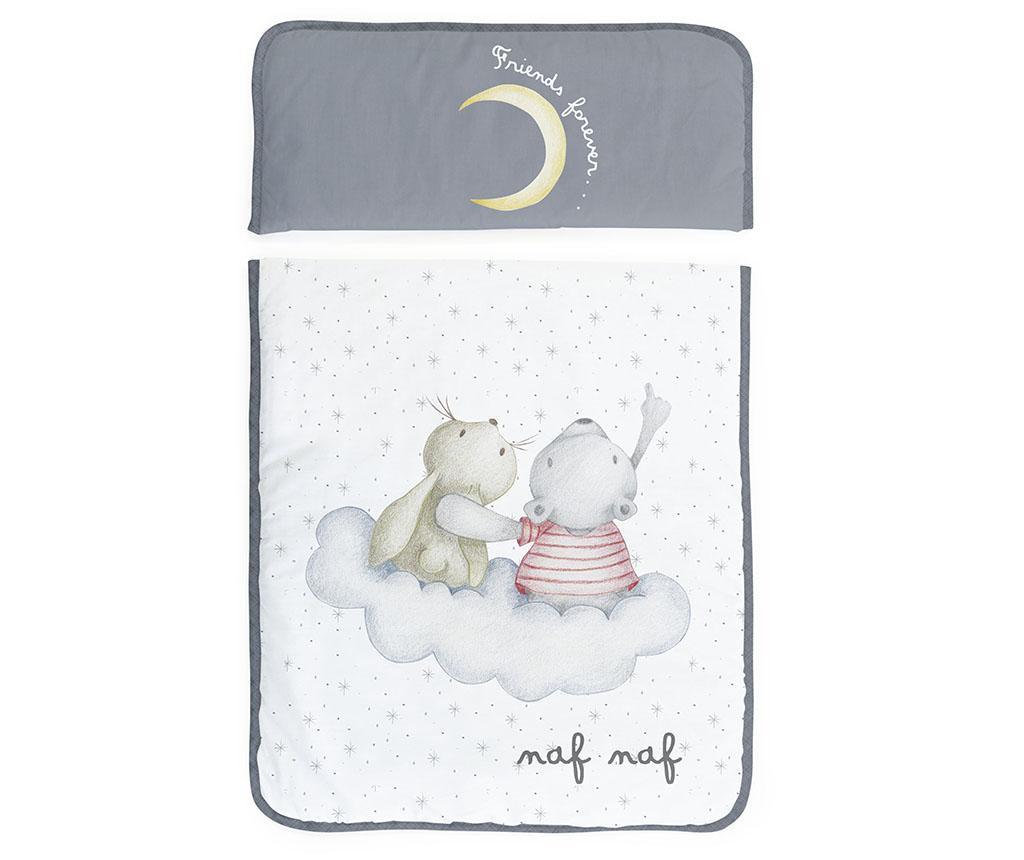 Set krevetić sa baldahinom i dodacima Rabbit & Moon