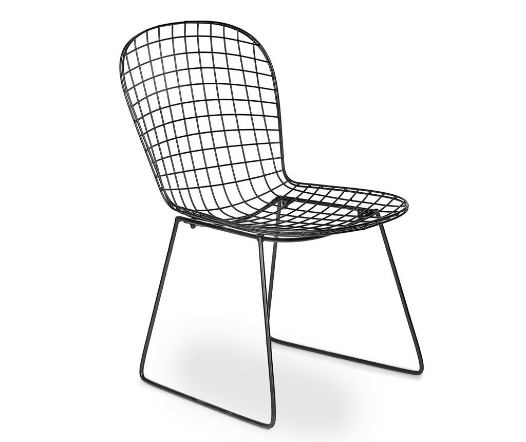 Vrtni stol Rete Black