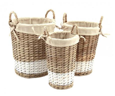 Set 3 košare za rublje Philis