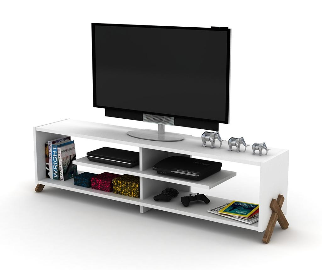 Comoda TV Kipp Walnut White