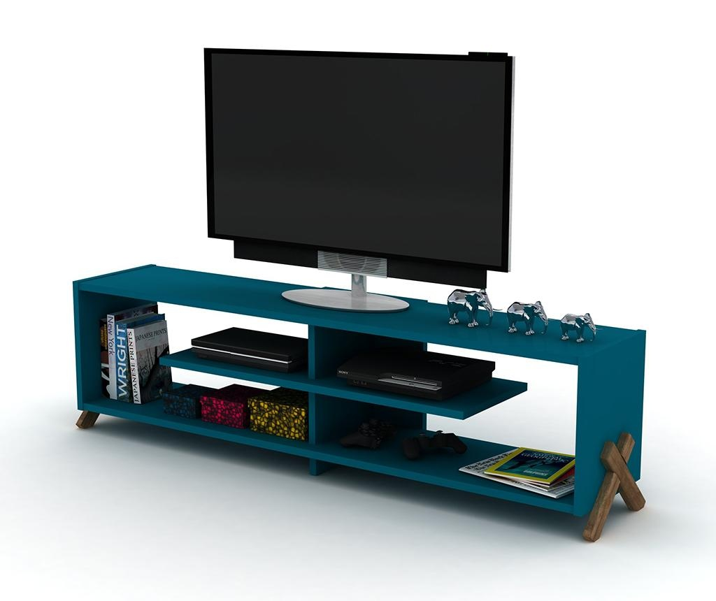 TV komoda Kipp Walnut Blue