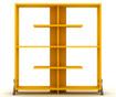 Regal za knjige Kipp Walnut Yellow