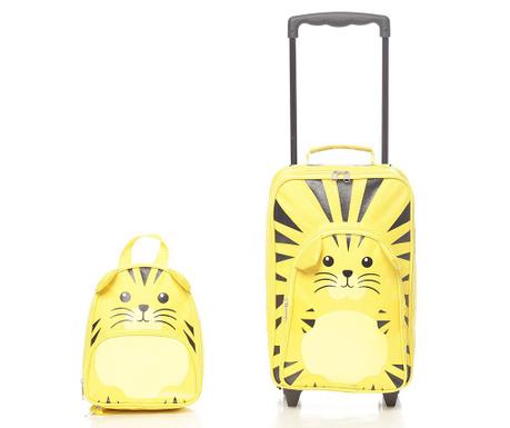 Zestaw walizka na kółkach i tornister dla dzieci Tiger