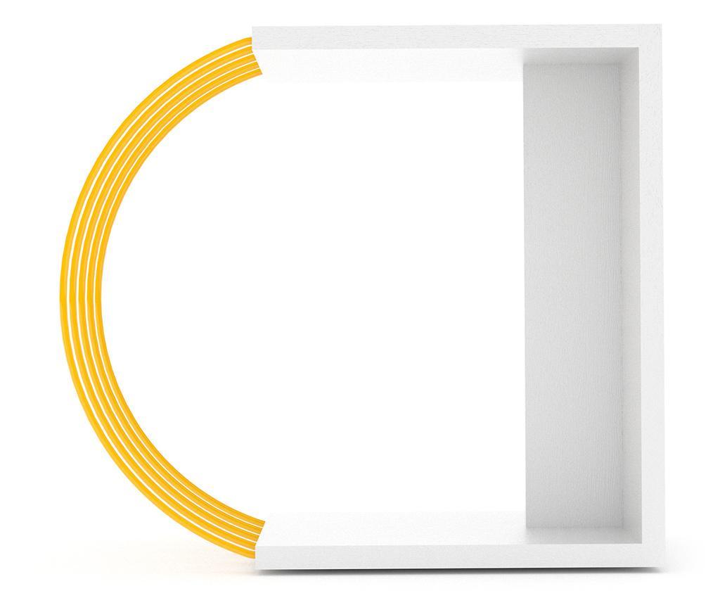 Stolek Case White Yellow