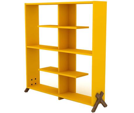 Knjižni regal Kipp Walnut Yellow