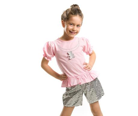 Set tricou si pantaloni scurti pentru copii Teddy Shine