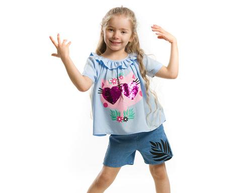 Set bluza si pantaloni scurti pentru copii Hawaii