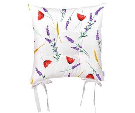 Възглавница за седалка Sunny Flowers 43x43 см