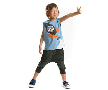 Set tricou si pantaloni trei sferturi pentru copii Mission Space Baggy