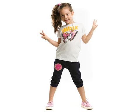 Set tricou si pantaloni trei sferturi pentru copii Just Walk  Baggy