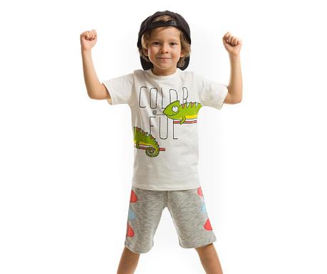 Set tricou si pantaloni scurti pentru copii Colorful