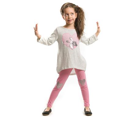 Set bluza si colanti lungi pentru copii Shiny Bunny