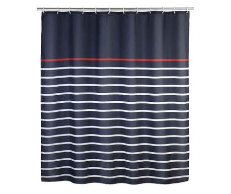 Zasłona prysznicowa Marine Blue 180x200 cm