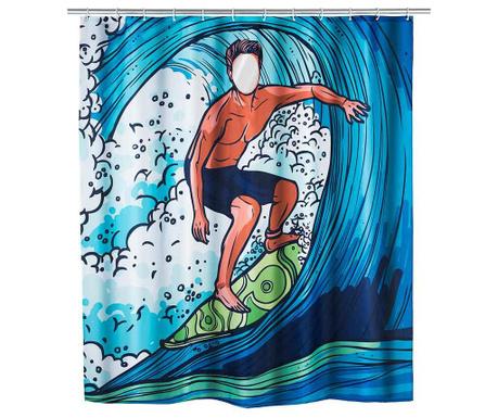 Zasłona prysznicowa Surfing Boy 180x200 cm