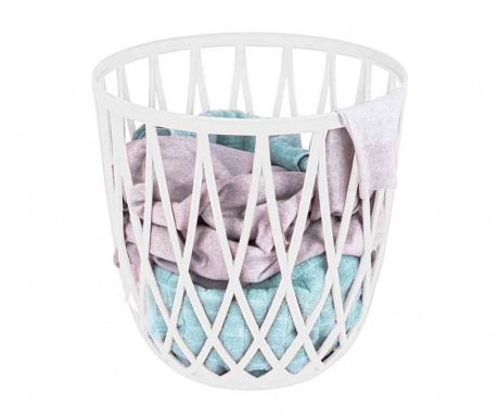 Koš na prádlo Omio White