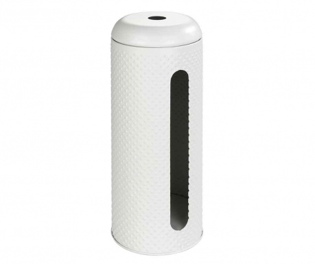 Pojemnik z pokrywką na papier toaletowy Punto White