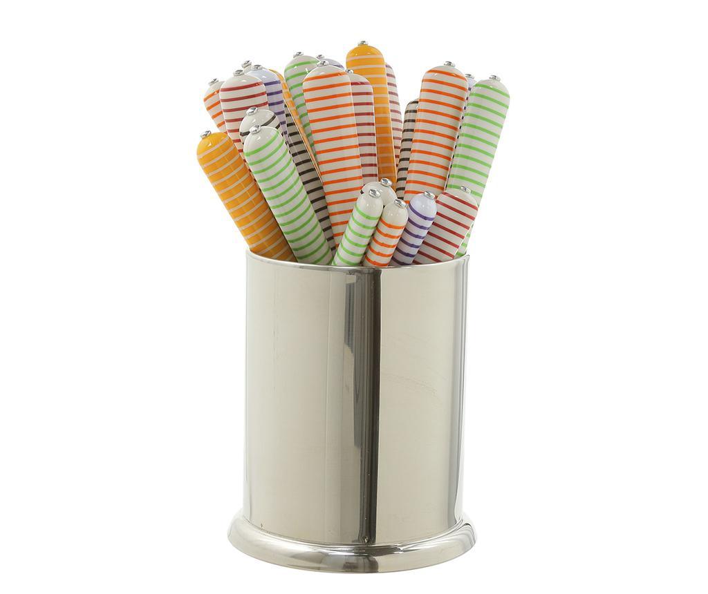 24-dijelni  pribor za jelo Multicolor Stripes