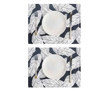 Sada 2 prostírání Geometric Palm Leaf 33x45 cm