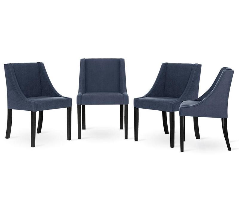 Set 4 scaune Guy Laroche Home Creativity Blue