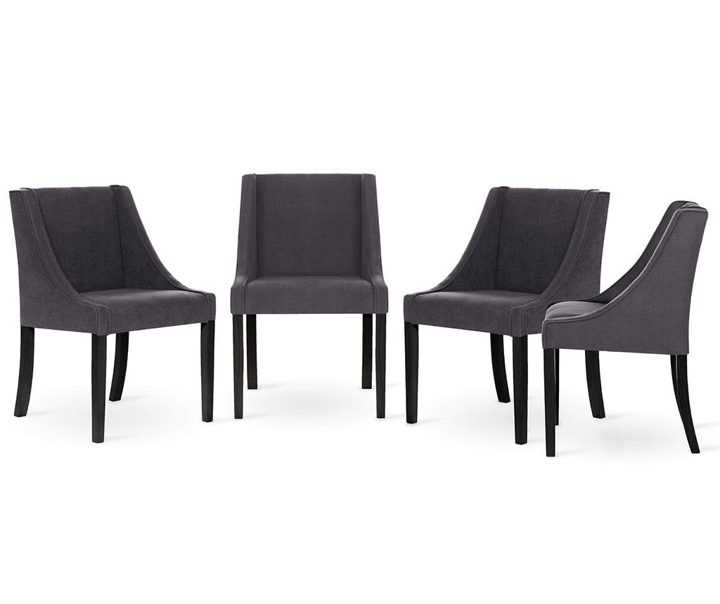 Set 4 scaune Guy Laroche Home Creativity Anthracite