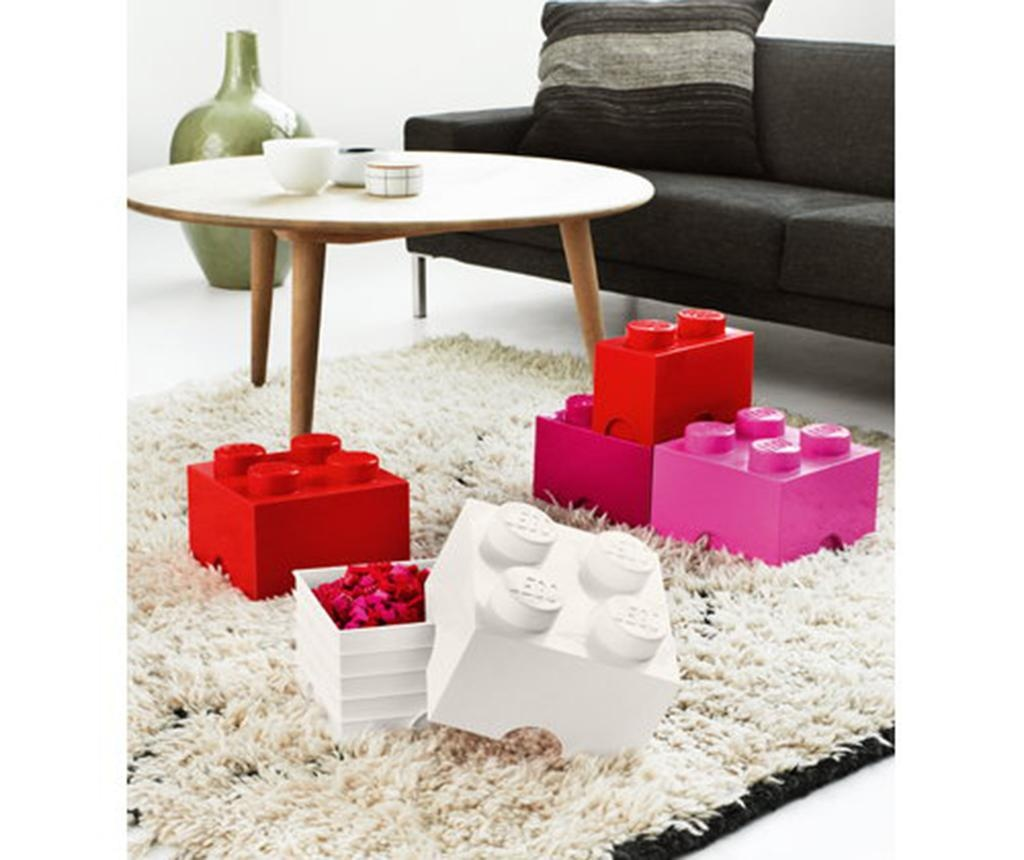 Kutija s poklopcem Lego Square Four White