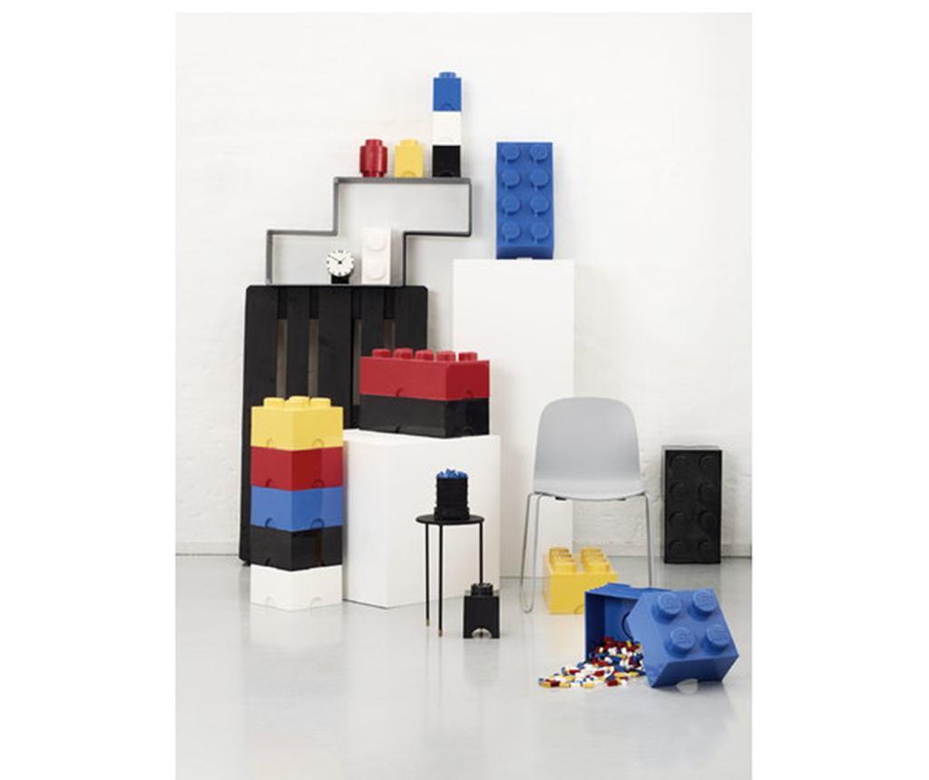 Škatla s pokrovom Lego Square Four Turquoise