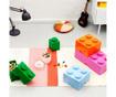Cutie cu capac Lego Square Four Sand Green