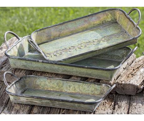 Set 3 tavi pentru servire Vert Olive