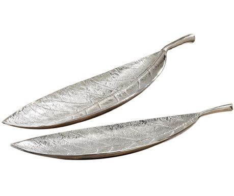 Sada 2 dekoračních podnosů Leaf Lance