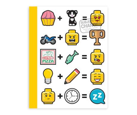 Beležnica Angry Lego