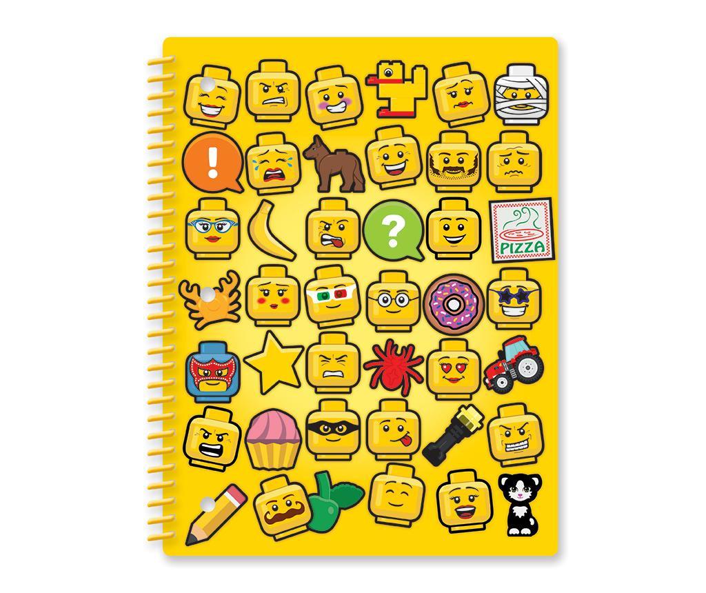 Caiet cu spirala Lego Pizza