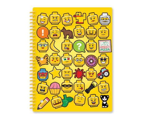 Beležnica s spiralno vezavo Lego Pizza