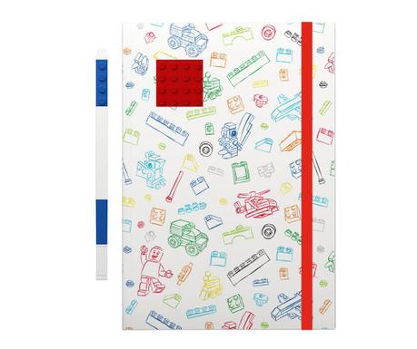 Set - beležnica in gel pisalo Lego  Red