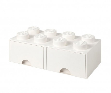 Cutie pentru depozitare Lego Square Duo White