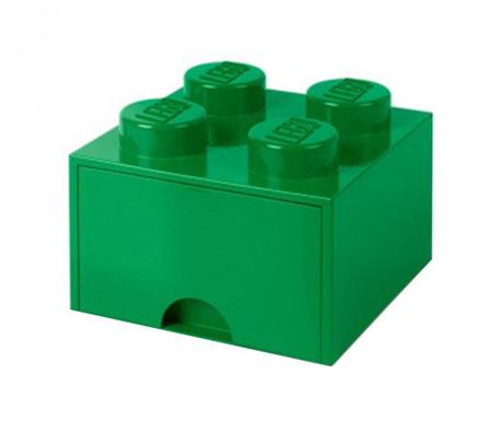 Kutija za pohranu Lego Square One Dark Green