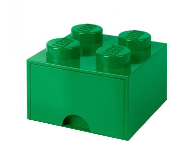 Shranjevalna škatla Lego Square One Dark Green