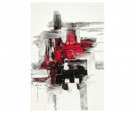 Covor Imogen Black and Red 80x300 cm