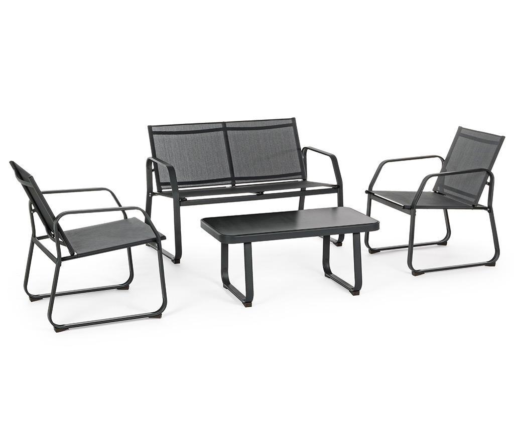 4-dijelni set namještaja za vanjski prostor Axten Black