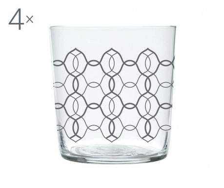 Zestaw 4 szklanki Magatama Linked 370 ml