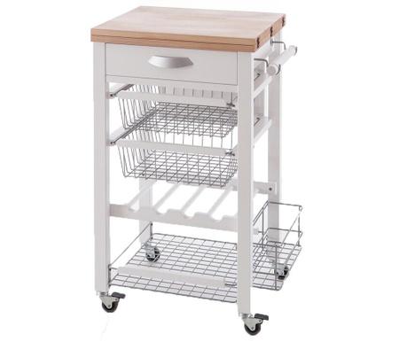 Разтегаема кухненска количка Gastone Off White