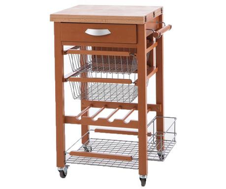 Разтегаема кухненска количка Gastone Brown