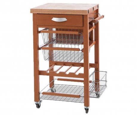 Raztegljiv kuhinjski voziček Gastone Brown