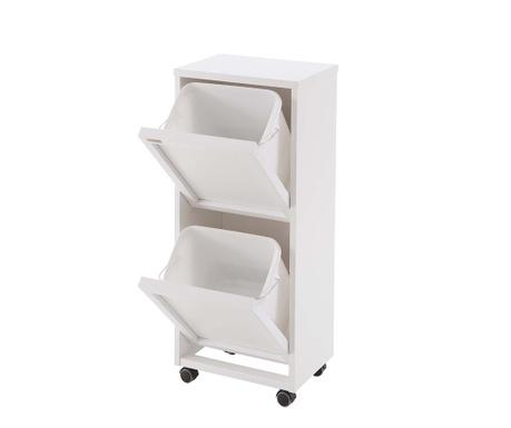 Skříňka na třídění odpadů Laccato Duo Off White