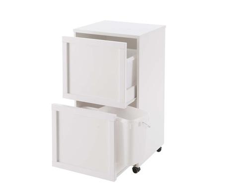 Skříňka na třídění odpadů Laccato Off White