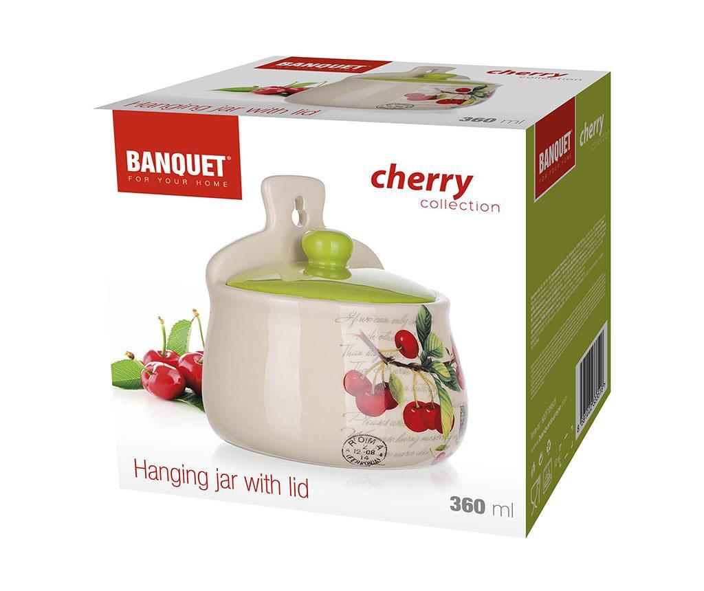 Cherry Tároló fedővel 350 ml