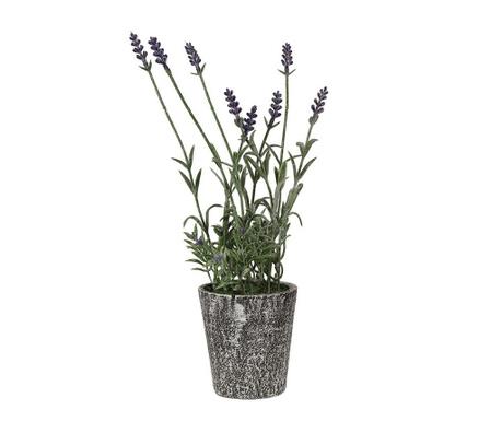 Umjetni cvijet u posudi za cvijeće Lavendel